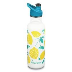 """Gourde bouteille en inox - 800 ml - Bouchon sport - """"Lemons"""""""