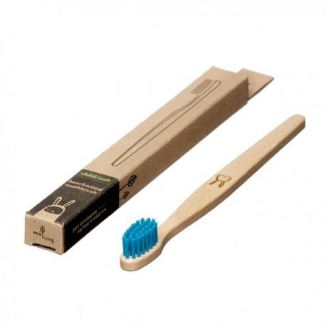 """Brosse à dents en bois Enfant """"Lapin"""" bleu"""