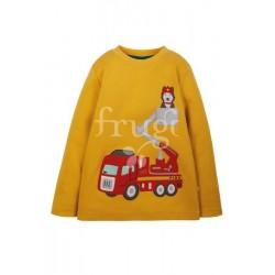 "T-shirt ""Adventure Applique Top, Bumblebee/Fire Engine"" - coton bio"