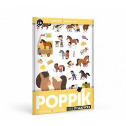 """Mini poster + 27 stickers """"Le Poney Club"""""""