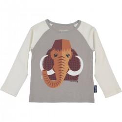 "T-shirt manches longues ""Mammouth"" - coton bio"