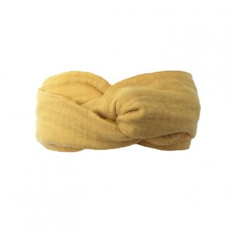 "Bandeau ""Lovely Mustard"" - coton bio"