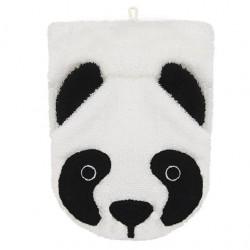 """Gant de toilette """"Panda"""" - coton biologique"""