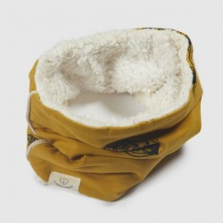 "Snood ""Warmy Pine Mustard"" - coton bio"