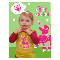 """Baby t-shirt """"Poodle"""" - made in Belgium"""