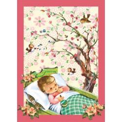 "Carte postale ""Enfant endormi"""