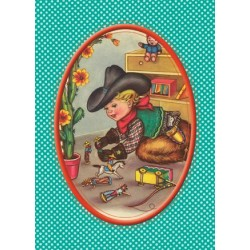 "Carte postale ""Cowboy"""