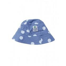"Chapeau / bob ""Surf Blue Big Spot""- coton bio"