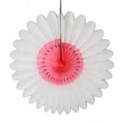"""Fleur en papier """"Blanc-rose"""" diamètre 60 cm"""