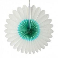 """Fleur en papier """"Blanc-ocean"""" diamètre 60 cm"""
