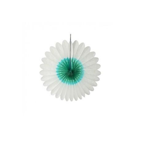 """Fleur en papier """"Blanc-ocean"""" diamètre 32 cm"""