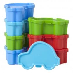 """Assortiment de 8 petites boîtes en plastique """"Voitures"""""""