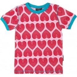 "T-shirt ""Hearts"" - bio katoen"