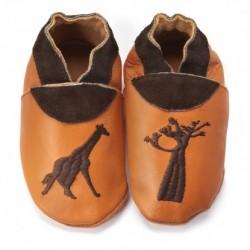 "Chaussons en cuir souple ""Africa"""