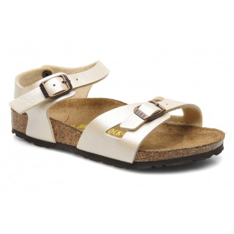 "Chaussures Birkenstock enfant RIO ""Graceful Pearl White"""