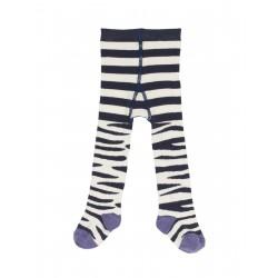 """Collants """"Little Norah Tights Zebra Stripe"""" - coton bio"""