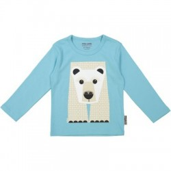 T-shirt manches longues MIBO ours polaire - coton biologique
