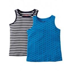 "Assortiment de 2 chemisettes ""Small Shark Patrol"" - coton bio"