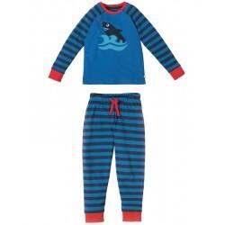 "Pyjama ""Sail Blue Shark"" - bio katoen"