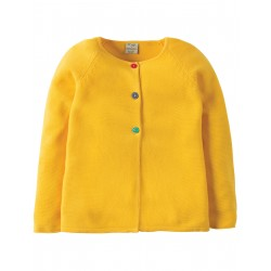"Cardigan ""Sun Yellow"" - coton bio"