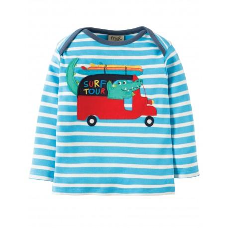 "T-shirt bébé ""Sky Breton/Croc"" - coton bio"