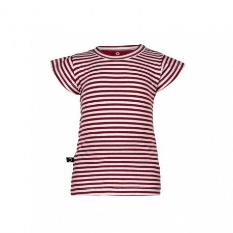 "T-shirt ""Stripe Red"" - coton bio"