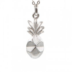 "Pendentif argent + collier ""Pineapple"""