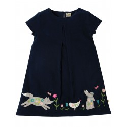 "Robe ""Holly Cord Dress, Navy Alpine Friend"" - coton bio"