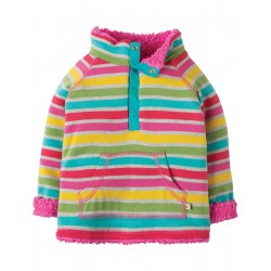 "Sweat réversible bébé ""Little Snuggle Fleece, Rainbow Marl Breton"" - coton bio"