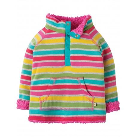 "Sweat réversible bébé ""Little Snuggle Fleece, Rainbow Marl Breton"" - coton bio"