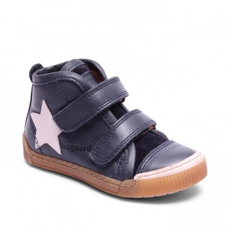 """Chaussures Bisgaard """"Shoes with velcro"""" Blue"""