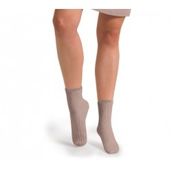"""Chaussettes courtes """"Vieux Rose"""" - Made in France"""