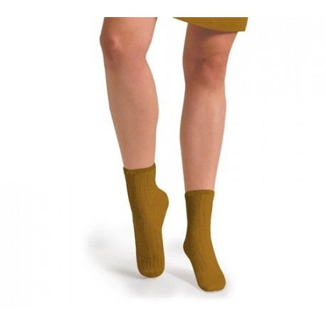 """Chaussettes courtes """"Moutarde de Dijon"""" - Made in France"""