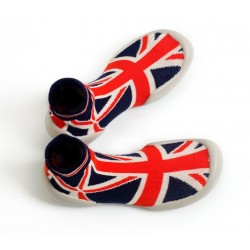 "Chaussons ""Drapeau Anglais"" - Made in France"