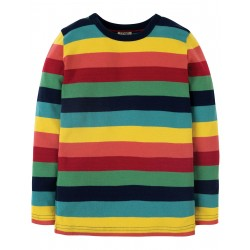 """T-shirt bébé """"Rainbow Marl Stripe"""" - coton bio"""
