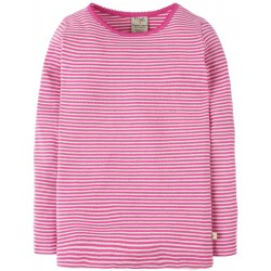 "T-shirt ""Flamingo Pointelle Stripe"" - coton bio"