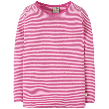 """T-shirt """"Flamingo Pointelle Stripe"""" - coton bio"""