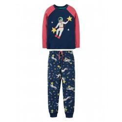 """Pyjama """"Marine Blue, Spacewoman"""" - coton bio"""