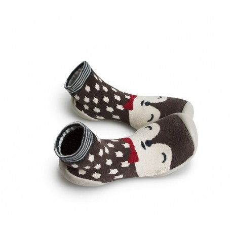 """Chaussons Unik """"Renard Polaire"""" - Made in France"""