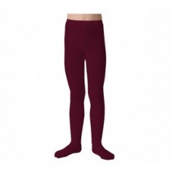 "Collants unis à côtes ""Marsala"" - Made in France"