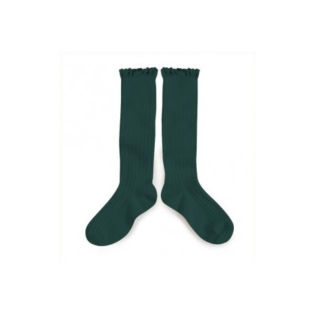 """Chaussettes hautes """"Dentelle"""" - Made in France"""