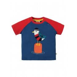 "T-shirt ""Renny Raglan T-shirt, Marine Blue Seagull"" - coton bio"