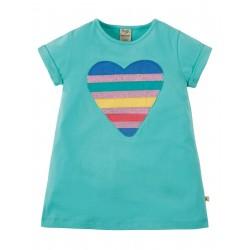 """T-shirt """"Sophie Sequin Applique Top, St Agnes Sequin Heart"""" - coton bio"""