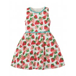 "Robe ""Wren Woven Dress, Scilly Strawberries"" - coton bio"