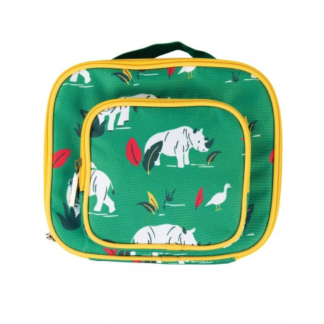 """Lunch Bag """"Pack a Snack, Rhino Ramble"""" - polyester recyclé"""
