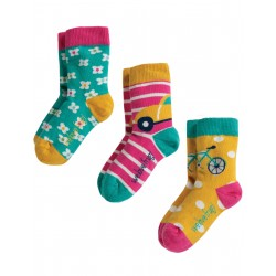 """Chaussettes """"Susie Socks 3 Pack, Transport Multipack"""" - coton bio"""