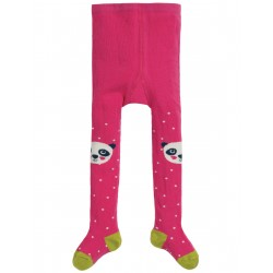"Collants bébé ""Little Fun Knee Tights, Flamingo Spot Panda"" - coton bio"