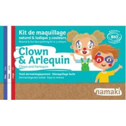 "Kit de maquillage 3 couleurs ""Clown & Arlequin"""