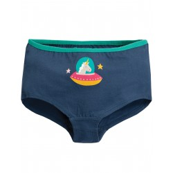 "Culotte ""Georgia Girl Shorts, Space Blue/Unicorn"" - coton bio"