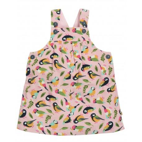 "Robe ""Tilly Cord Pinafore Dress, Soft Pink Tweet"" - coton bio"
